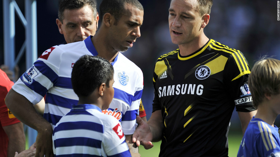 "But the English Football Association then investigated the case, and using the test of ""on the balance of probabilities"", came to the conclusion that Terry's defence against claims he racially abused Ferdinand was ""improbable, implausible, contrived"". In September, Ferdinand declined Terry's offer of a handshake when QPR met Chelsea at Loftus Road as the feud between the two players rumbled on."