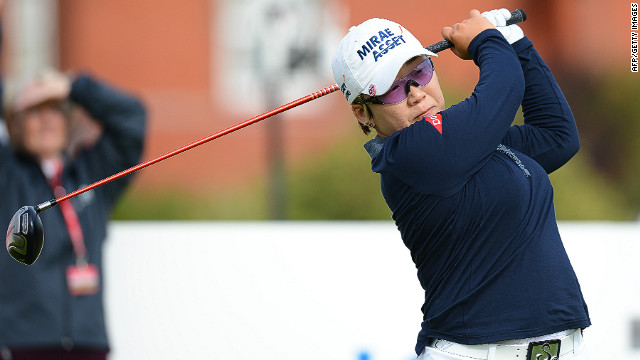 Korea's Jiyai Shin fired an eight-under par round of 64 to take control of the Women's British Open at Hoylake