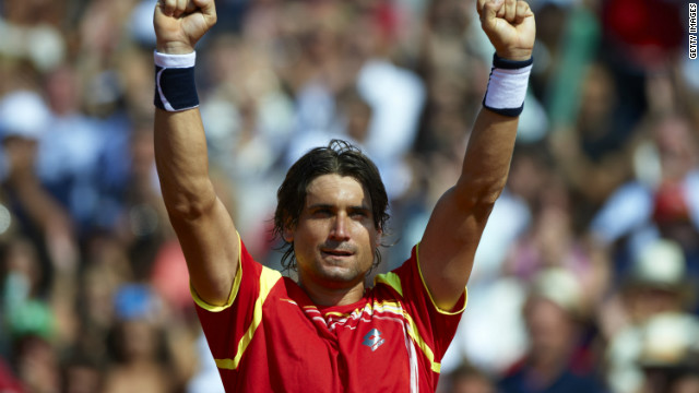 Spain's David Ferrer has won all 16 of his Davis Cup singles matches on clay.
