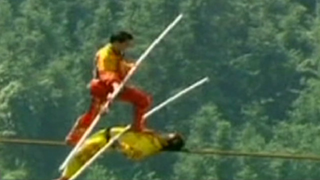 cnni world report chinese tightrope record_00002314