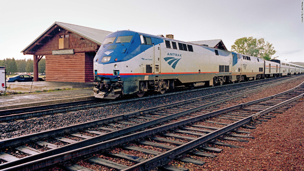 East Glacier Station in Montana is the gateway to Glacier National Park for the westbound Empire Builder.