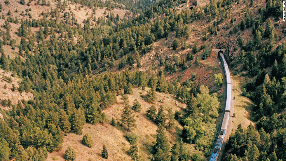 Amtrak's Empire Builder takes riders through rugged and scenic country.
