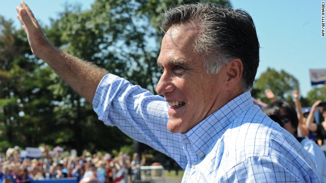 Mitt Romney waves after speaking at a campaign rally in Fairfax, Virginia last week