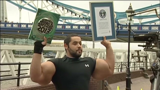 Guinness records: Huge biceps, tall dog