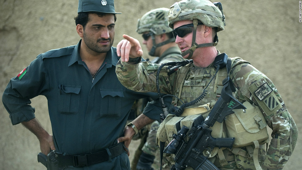 "But NATO plans to fully hand over operations to Afghan forces by 2014 have been slowed by a recent spate of ""green-on-blue"" attacks -- deadly insider attacks by Afghan security forces on NATO troops."