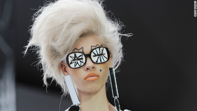 A model showcases designs on the catwalk at The Topshop Venue on September 17, 2012 in London, England.