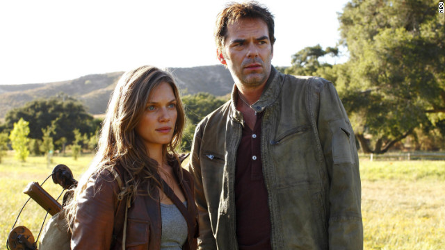 "Tracy Spiridakos and Billy Burke star in NBC's ""Revolution."""