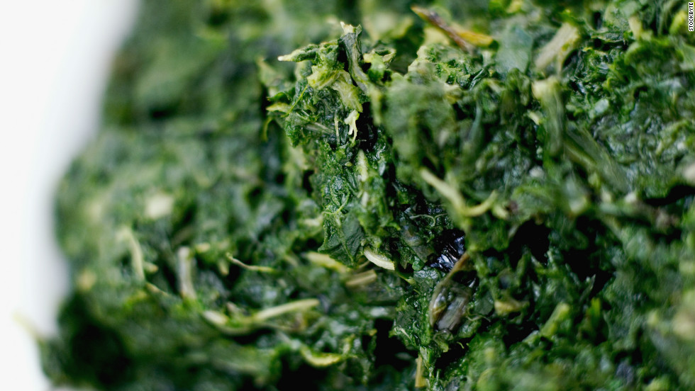 "Spinach is a great source of iron, which is a key component in red blood cells that fuel our muscles with oxygen for energy. But researchers in Sweden identified another way in which these greens might keep you charged: Compounds found in spinach actually <a href=""http://www.sciencedaily.com/releases/2011/02/110201122226.htm"" target=""_blank"">increase the efficiency of our mitochondria</a>, the energy-producing factories inside our cells. That means eating a cup of cooked spinach a day may give you more lasting power on the elliptical machine (or in your daily sprint to catch the bus)."