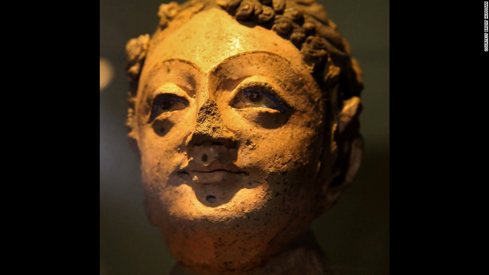 A five-foot statue of a Buddhist devotee was recovered from Mes Aynak.