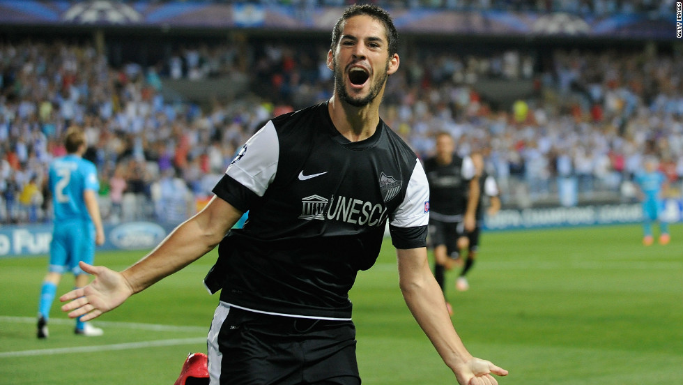 Despite being in financial turmoil, Malaga continued their fine start to the season with a 3-0 triumph. Isco (pictured) scored either side of a strike from Argentine striker Javier Saviola.