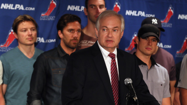 Don Fehr, executive director of the National Hockey League Players Association addressed the press on Thursday, Sept. 13.
