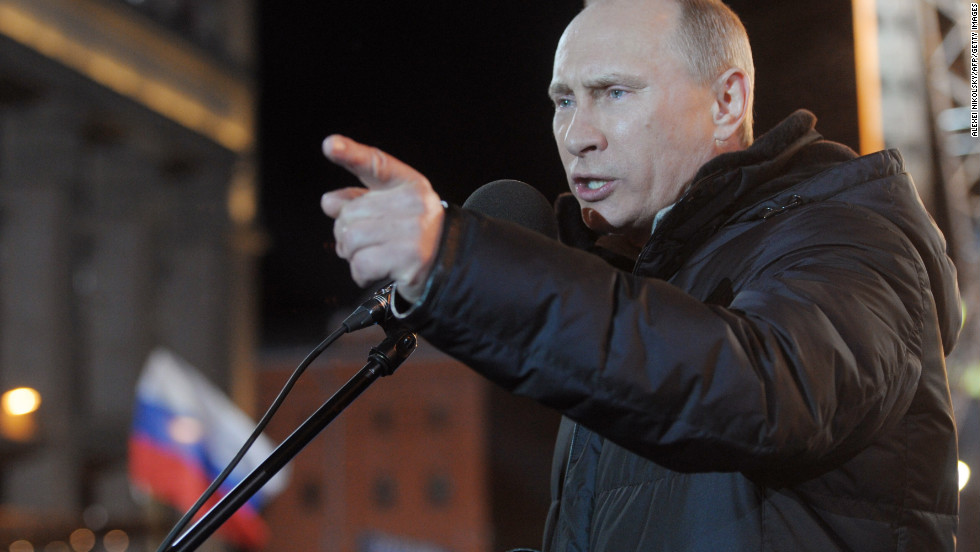 """Vladimir Putin won back the presidency of <strong>Russia</strong>, picking up where he left off in 2008, when he stepped down because of a two-term limit. International observers and opposition leaders <a href=""""http://www.cnn.com/2012/03/05/world/europe/russia-post-election-q-and-a/index.html"""">blasted the election</a>, however, alleging fraud and saying the outcome was never in doubt."""