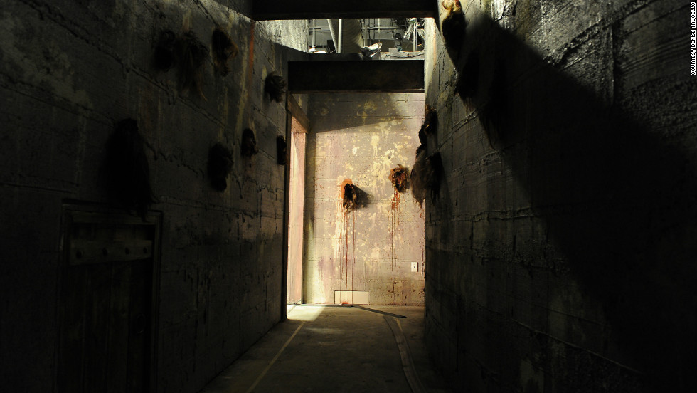 The Goretorium features human body parts as wall decorations.