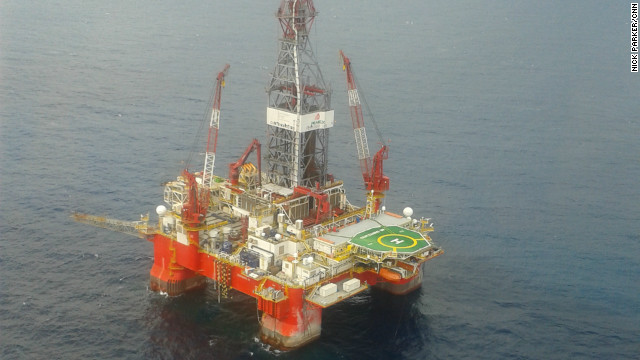 One of Mexico's three exploration rigs used for finding deep water oil reserves in the Gulf of Mexico