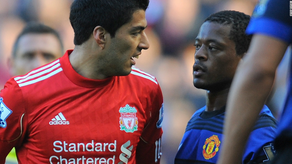 The rivalry between the two clubs reached new heights last season. Liverpool's Luis Suarez was handed an eight-match ban by the Football Association for racially abusive Manchester United's Patrice Evra. In the return fixture, Suarez refused Evra's hand in the pre-match handshake.