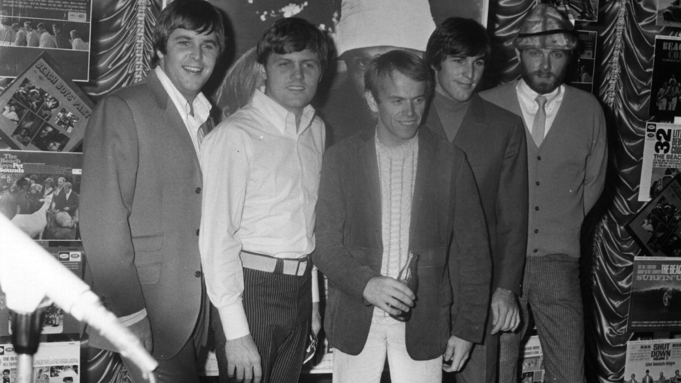 The pop group at an EMI Records reception in London, November 1966.
