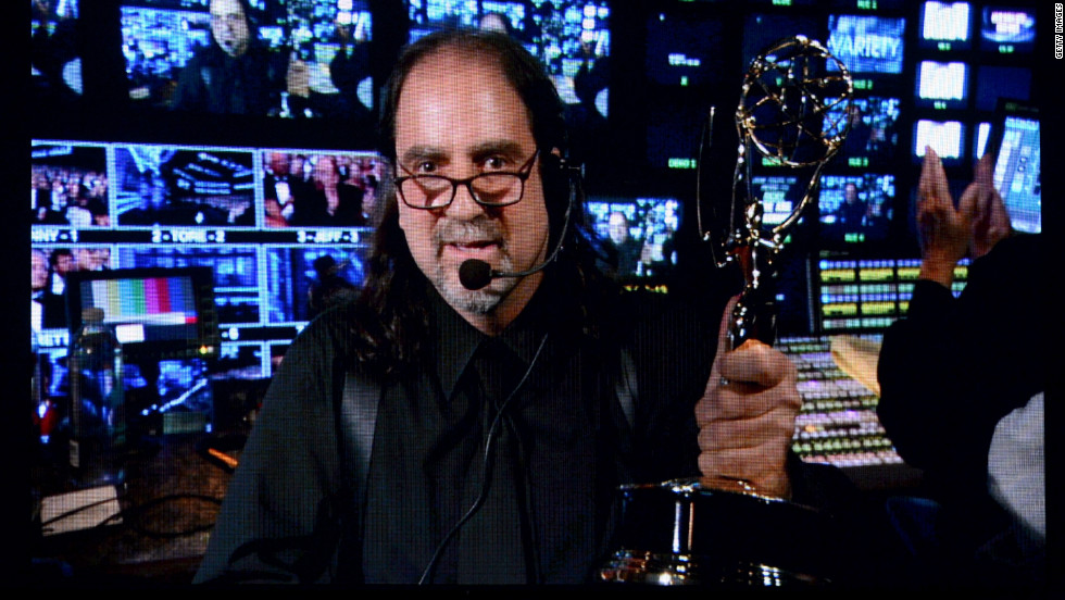 "Director Glenn Weiss accepts the outstanding directing for a variety, music or comedy special for ""The 65th Annual Tony Awards."""