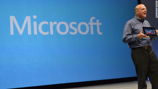Microsoft CEO Steve Ballmer introduces Microsoft's new Surface tablet on June 18 in California.
