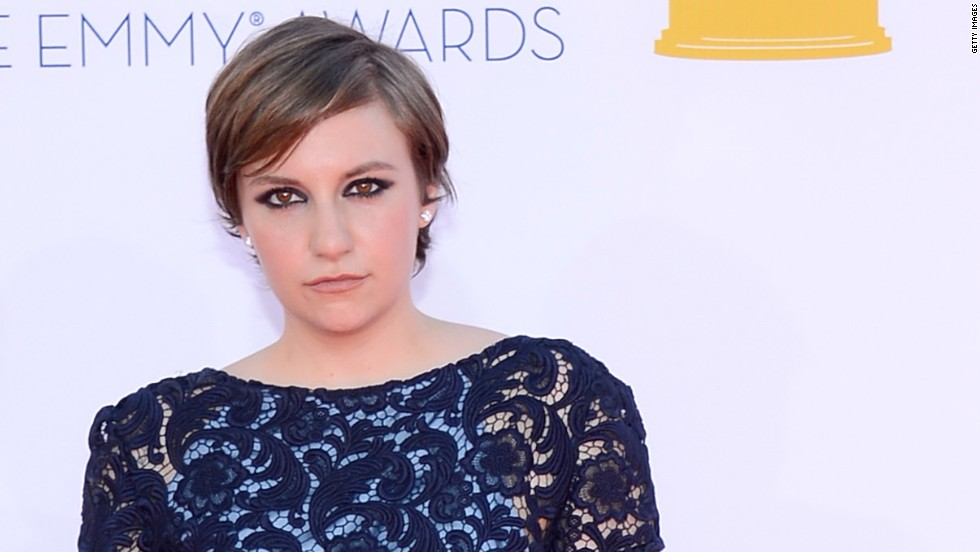 "Lena Dunham's ""Girls"" character may be a mess, but the actress herself cleans up well, as she proved at the 2012 Emmy Awards."
