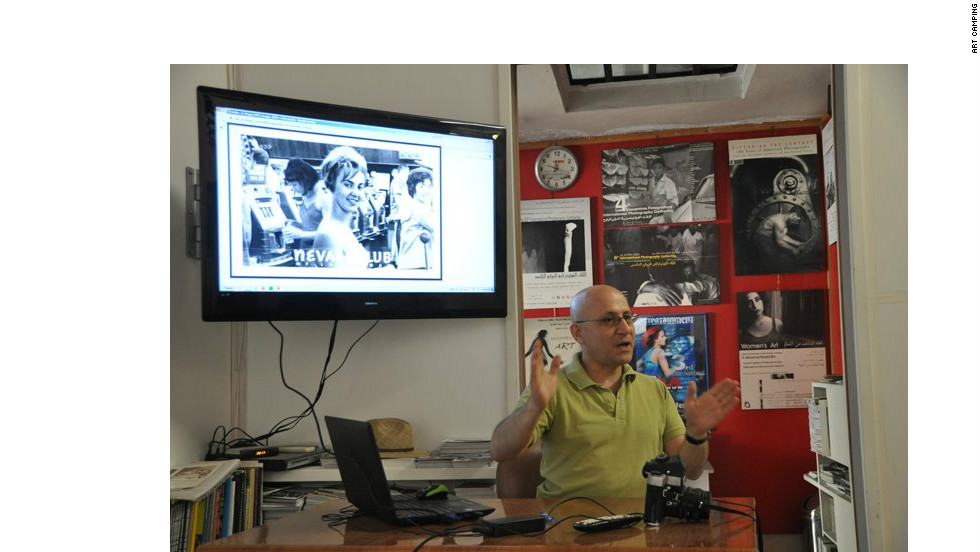 Touma runs a photography workshop as part of Art Camping in May 2012.