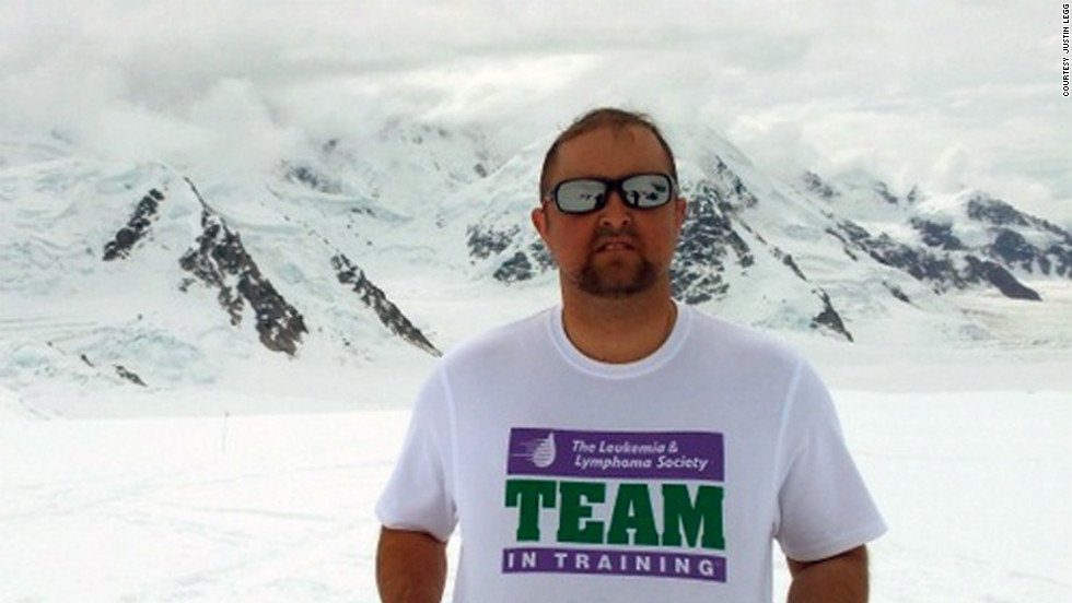 Legg trekked 11,600 feet up Mount McKinley a year after the transplant with a group of wounded combat veterans.