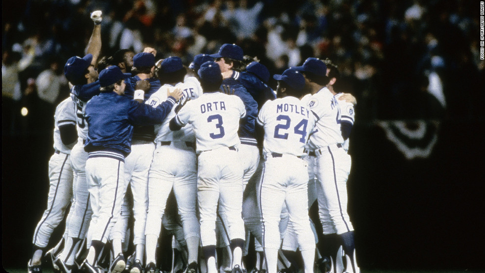 Umpire Don Denkinger called the Kansas City Royals' Jorge Orta safe at first base despite being beaten by half a step in the ninth inning of a 1985 World Series game against St. Louis. Kansas City went on to win the game and the series.