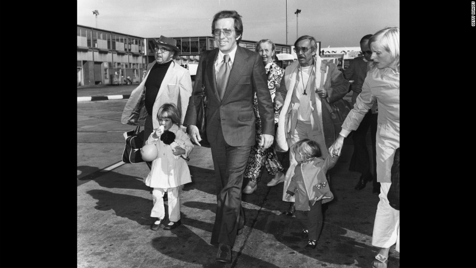 Williams on the runway at London's Heathrow Airport in 1972.
