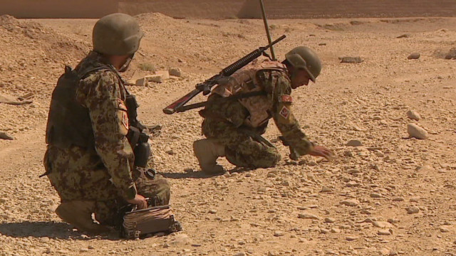 Afghans take over IED removal