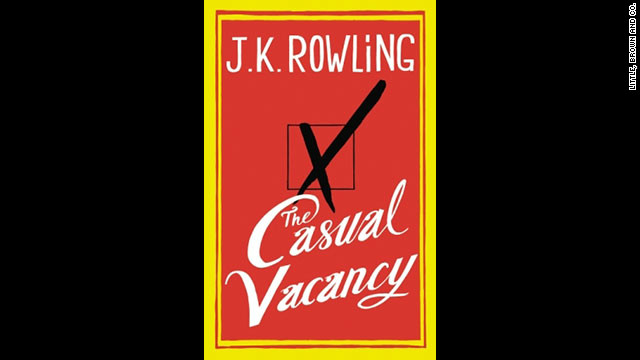"""The Casual Vacancy,"" J.K. Rowling's first adult novel, will be released Thursday."