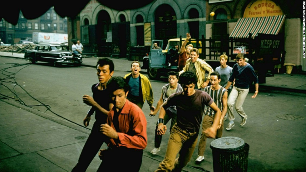 "A scene from the set of the 1961 movie, ""West Side Story."""
