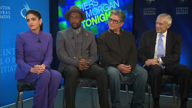 pmt clinton global initiative panel will. i. am wesley clark deepak chopra princess amira_00000926