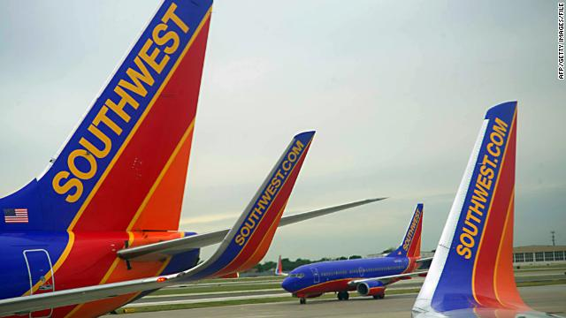 Southwest makes about 3,400 flights a day.