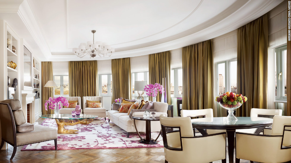At 5,000 square feet, the Royal Penthouse at the Corinthia is the largest two-bedroom hotel residence in London. The suite has a private kitchen and wine cellar, a terrace with a fire pit and a spiral staircase leading up to the leather-detailed bedrooms. From $28,479; Whitehall Pl.; 44-20/7930-8181; corinthia.com.