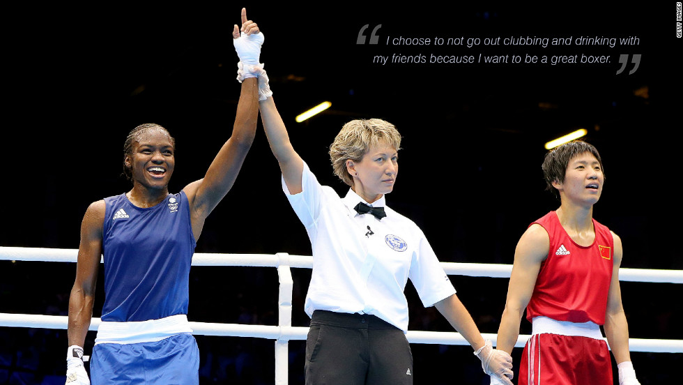 "Nicola Adams: ""I chose to not go out clubbing and drinking with my friends because I want to be a great boxer."""