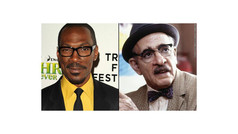 "Eddie Murphy has a knack for portraying multiple characters in the same film, and in 1988's ""Coming to America,"" he played Prince Akeem and comedic barbershop gentleman Saul (pictured, right) among others. Makeup artist Rick Baker earned an Oscar nod for his work."