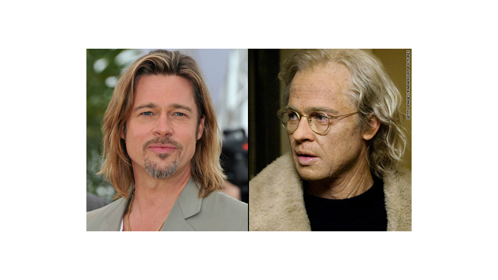 "For his role as a man who aged in reverse in ""The Curious Case of Benjamin Button,"" Brad Pitt ""had to endure the most complicated and time-consuming makeup effects,"" sometimes spending five hours at a time in the makeup chair, producer Frank Marshall <a href=""http://www.variety.com/article/VR1117996923?refcatid=3470"" target=""_blank"">told Variety</a> in 2008."