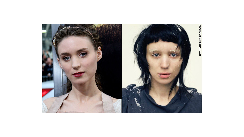 "When she landed the part of Lisbeth Salander in 2011's ""The Girl With the Dragon Tattoo,"" fresh-faced <a href=""http://marquee.blogs.cnn.com/2011/01/13/rooney-mara-goes-goth-for-dragon-tattoo-role/?iref=allsearch"">Rooney Mara got</a> a severe haircut in an inky hue, bleached her brows and pierced her nose, lip, eyebrow and nipple."