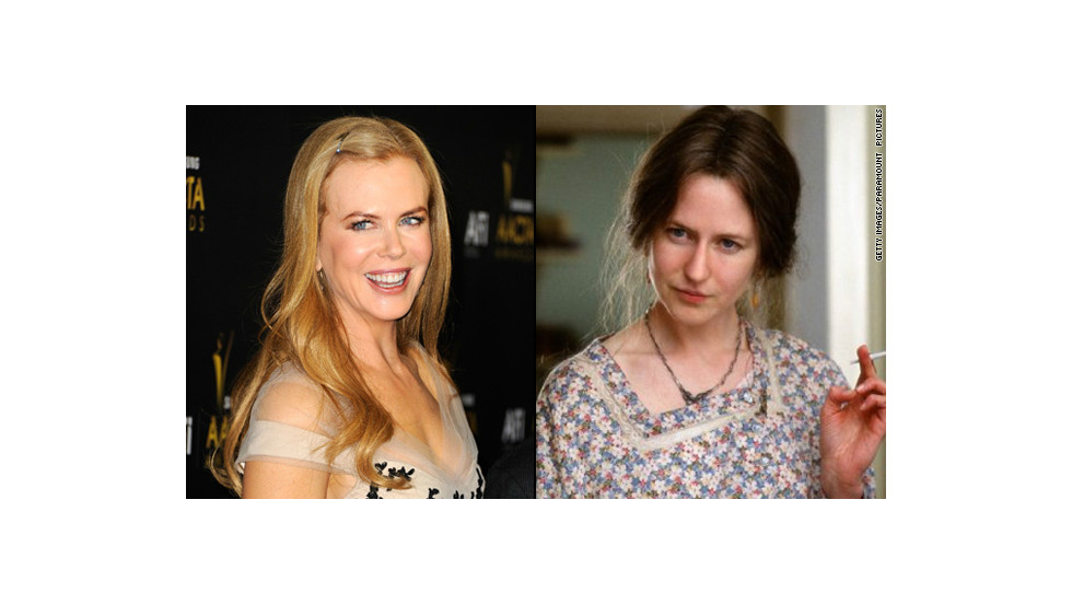 "Nicole Kidman nabbed a best actress Oscar for her portrayal of Virginia Woolf in 2002's ""The Hours."" But the makeup job that changed her appearance -- aided greatly by a prosthetic nose <a href=""http://www.nytimes.com/2003/02/15/movies/the-nose-was-the-final-straw.html?pagewanted=all&src=pm"" target=""_blank"">that stirred debate</a> -- <a href=""http://www.people.com/people/article/0,,625543,00.html"" target=""_blank"">didn't receive a nod.</a>"
