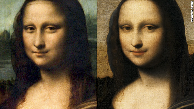 "Did Leonardo da Vinci preface the legendary ""Mona Lisa,"" left, with another version?"