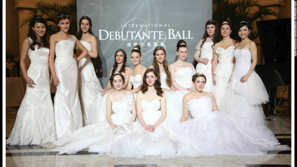 "Thirteen debutantes attended the first ball in Shanghai from a number of countries including Britain, Australia, Hong Kong and Taiwan. Guest Ricky Gong, a beauty contest organizer, said the ball was ""elegant, noble and very ceremonial. It had a very strong upper-class feeling."""