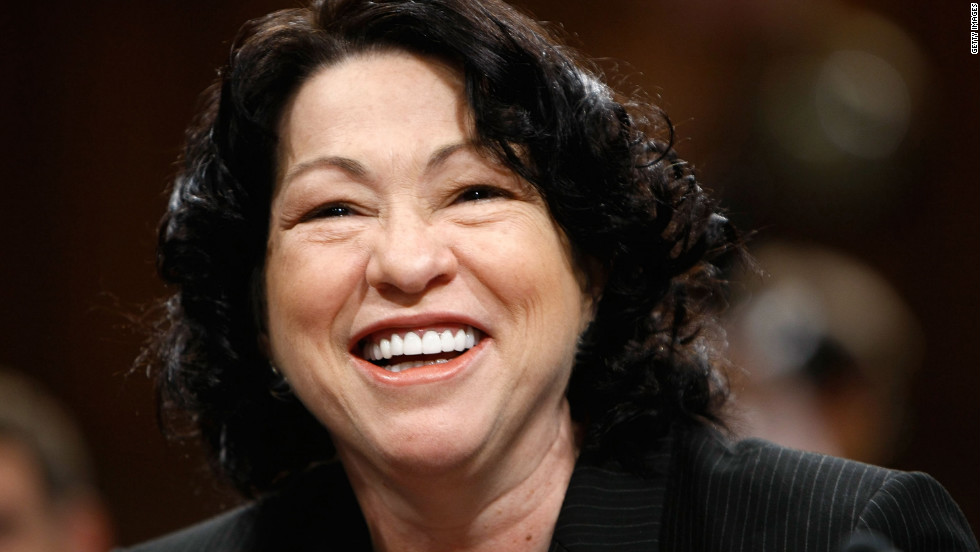 Sotomayor is the court's first Hispanic and third female justice. She was appointed by Obama in 2009 and is regarded as a resolutely liberal member of the court.