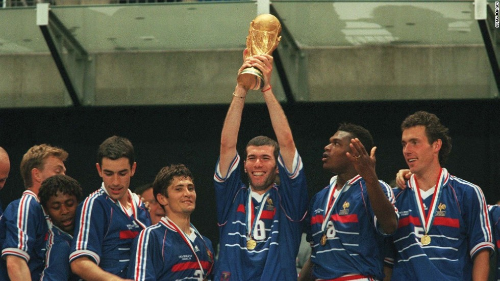Zidane and his teammates, including Thierry Henry and Marcel Desailly,  ensured France were crowned world champions for the first time.