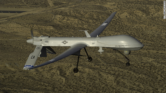 Drones such as this U.S. Air Force MQ-1 Predator have reportedly killed more than 3300 people over the last nine years.