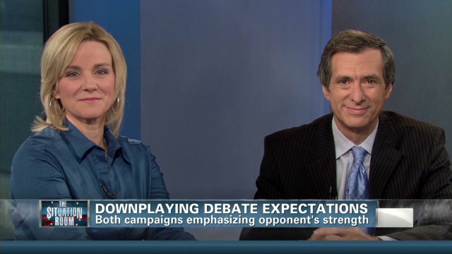 Downplaying debate expectations