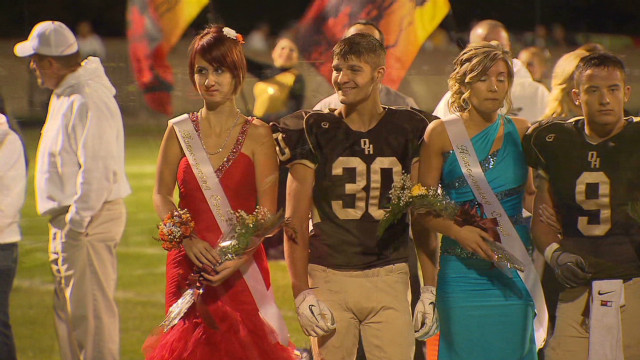 Bullied teen shines at homecoming