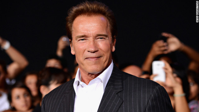 "Arnold Schwarzenegger arrives at ""The Expendables 2"" premiere in August 2012."