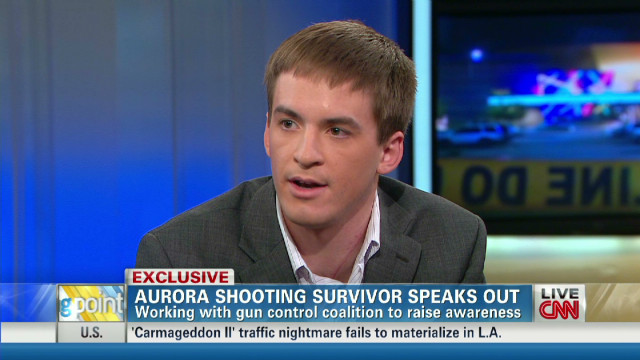 Aurora shooting survivor speaks out