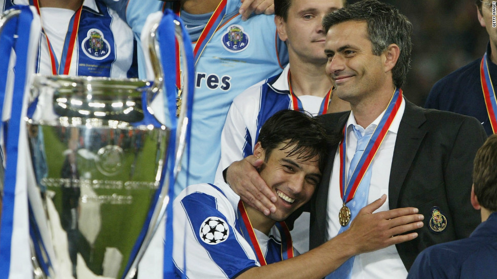 Mourinho made his name at Porto, winning a host of domestic trophies, including two successive league titles, and crowned his spell at the club with a shock Champions League triumph in 2004.