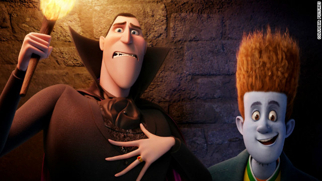 "Dracula and Jonathan from ""Hotel Transylvania"" helped draw in audiences this weekend."