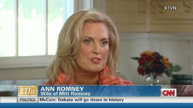 Ann Romney off message?